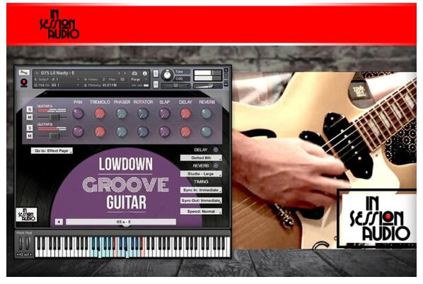 In Session Audio Lowdown Groove Guitar and Direct KONTAKT