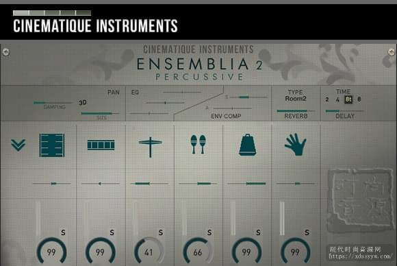 Cinematique Instruments Ensemblia 2 Percussive KONTAKT自然打击