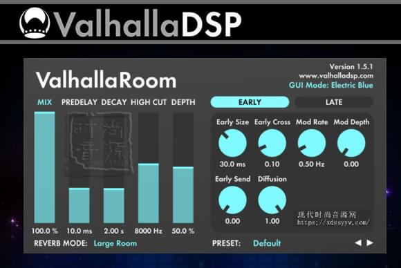ValhallaDSP Valhalla Room v1.1.1 PC/v1.5.1 MAC立体声混响