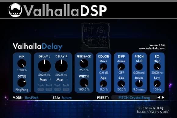 ValhallaDSP ValhallaDelay v1.0.3v2 PC MAC经典延迟