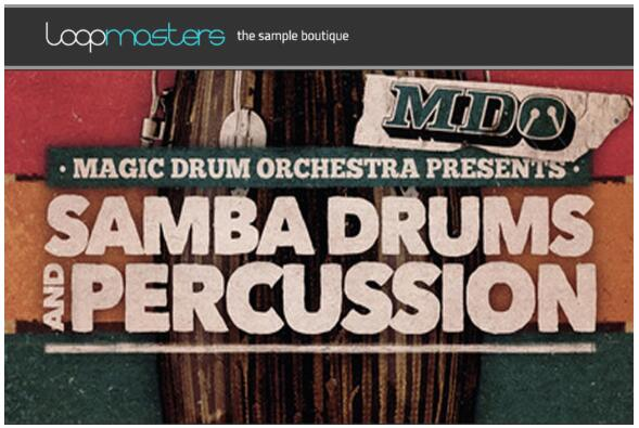 Loopmasters the Magic Drum Orchestra Samba Drums and Percussion