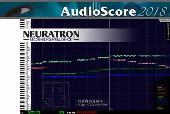 Neuratron AudioScore Ultimate 8.8.2 & 8.0.2 PC音频分析出曲谱的软件