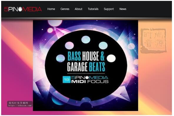 5Pin Media MIDI Focus Bass House and Garage Beats 电子节奏素材