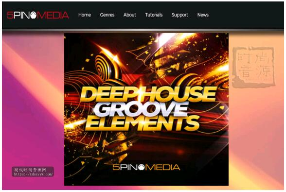 5Pin Media Deep House Groove Elements 电子节奏素材