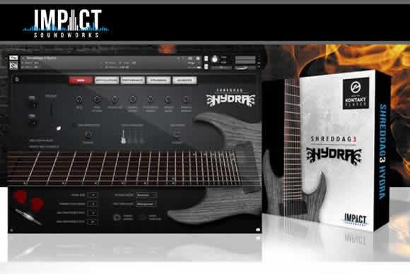 Impact Soundworks Shreddage 3 Hydra KONTAKT 8弦金属吉他