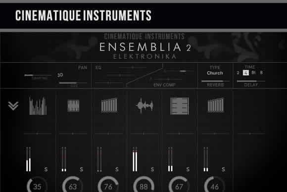 Cinematique-Instruments Ensemblia 2 Elektronika KONTAKT电子打击乐