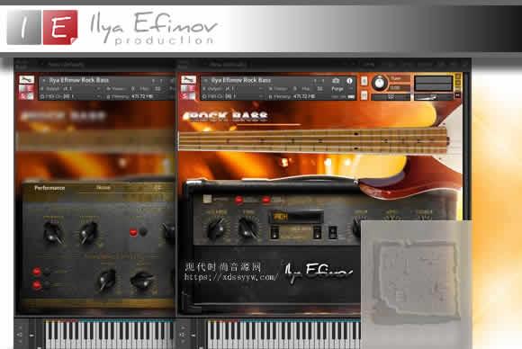Ilya Efimov Rock Bass KONTAKT摇滚贝斯