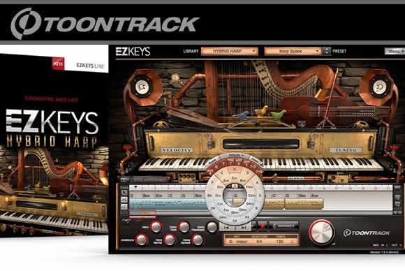 Toontrack EZkeys Hybrid Harp v1.0.1 PC MAC竖琴