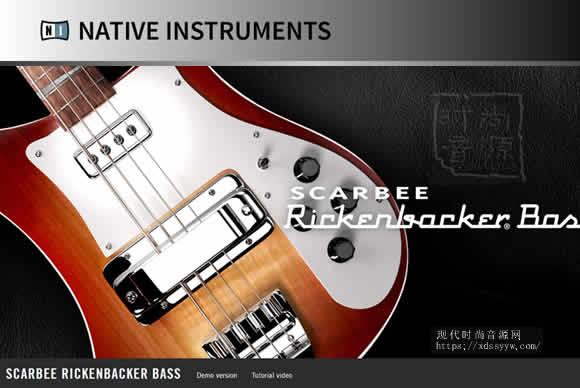 Native Instruments Scarbee Rickenbacker Bass v1.2.0 KONTAKT深沉贝斯