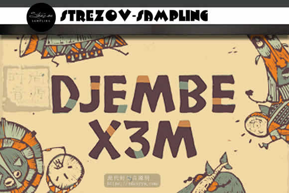 Strezov Sampling DJEMBE X3M KONTAKT非洲手鼓打击乐器