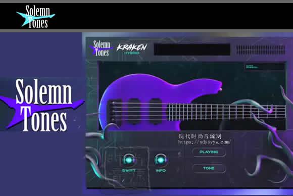 Solemn Tones KRAKEN HYBRID BASS v1.4.2 PC MAC克拉肯贝斯