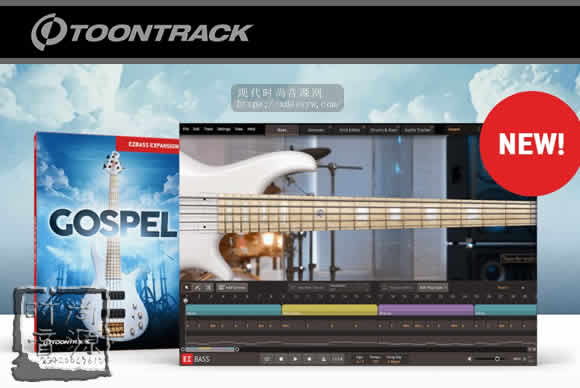 Toontrack Gospel EBX v1.0.0 (SOUNDBANK)EZBASS扩展之福音贝斯