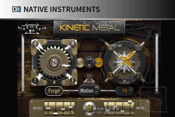 Native Instruments KINETIC METAL KONTAKT 动力金属声音