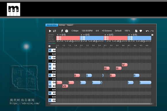 MusicDevelopments Melodya v1.1.1 PC MAC高级旋律动机生成编辑器