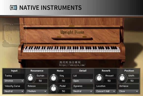 Native Instruments Upright Piano KONTAKT 钢琴音源