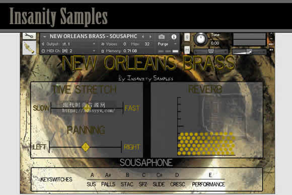 Insanity Samples New Orleans Brass KONTAKT新奥尔良铜管音源