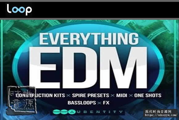 Audentity Everything EDM WAV MiDi合成器 低音和鼓素材